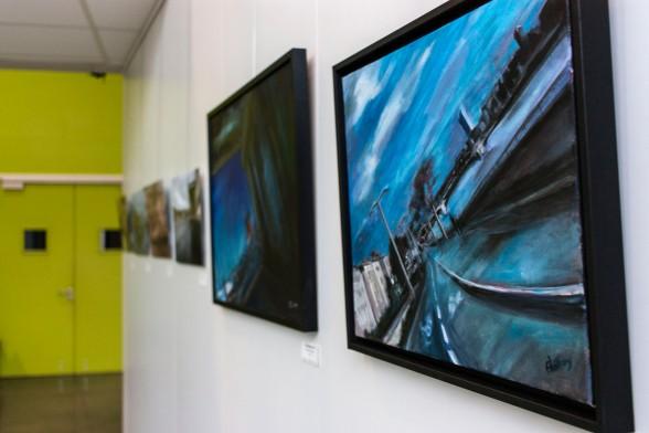 """Exposition """"Divagations Urbaines"""" - Damien Hugonnard / Florianne Vuillamy - du 28 Novembre au 17 Décembre 2016 à la MJC Saint Rambert (Lyon 09)."""